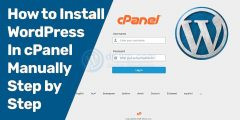 How to install wordpress from Cpanel step by step?
