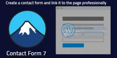 Create a contact form and link it to the page professionally