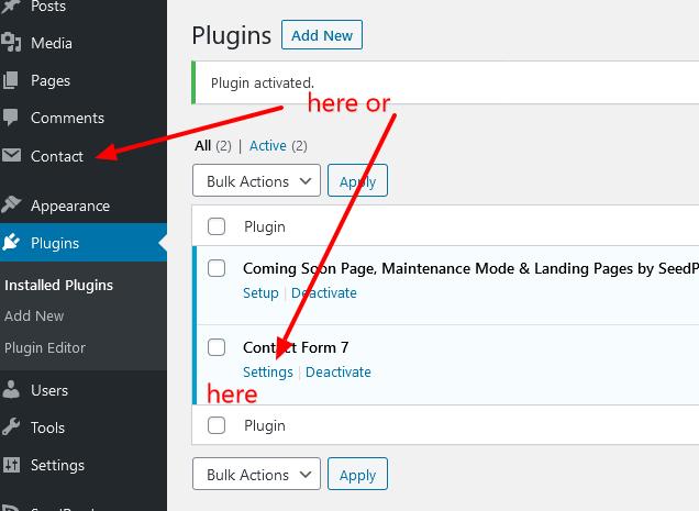 plugin setting