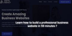 Learn how to build a professional business website in 59 minutes ?